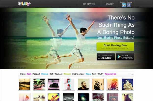 befunky 16 Melhores Editores de Fotografia Gratis para Utilização Online