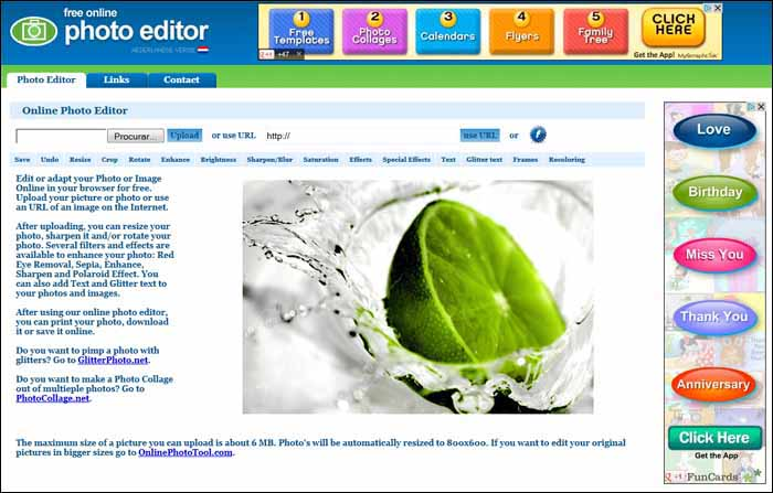 free online photo editor 16 Melhores Editores de Fotografia Gratis para Utilização Online