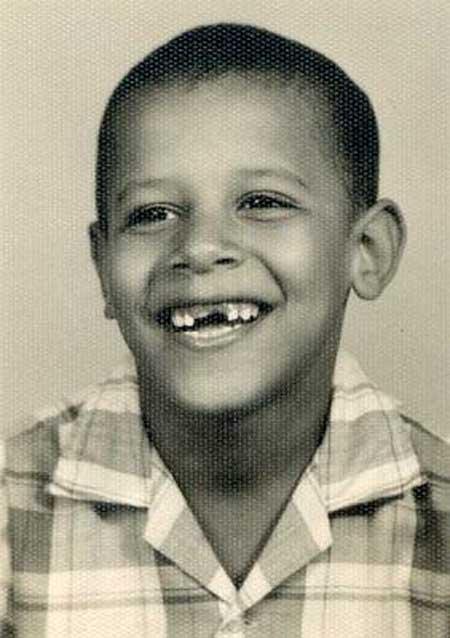 obama child 40 Fotografias Históricas de Famosos em Criança