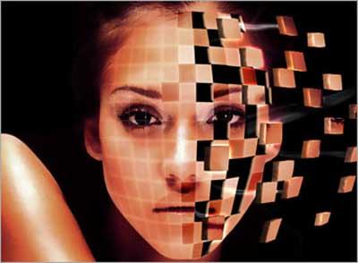 quadrados face 35 Tutoriais de Manipulação Photoshop