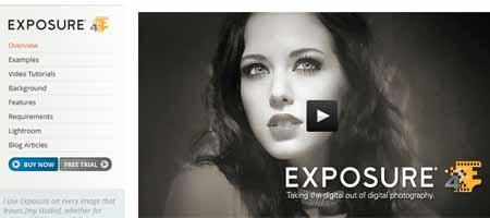 exposure 25 Melhores Plugins Photoshop para Fotografos