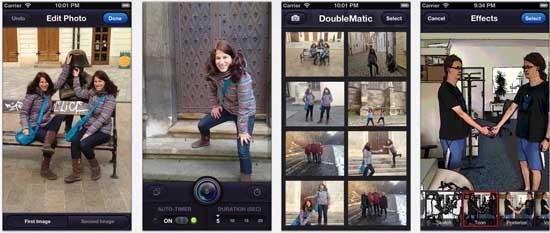 doublematic 17 apps iPhone para fazer Montagens nas suas Fotografias
