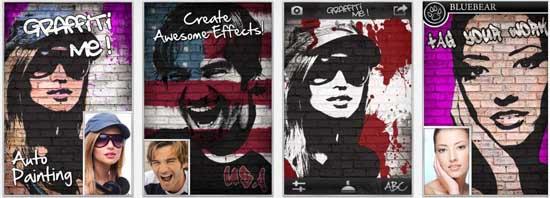 graffiti me 17 apps iPhone para fazer Montagens nas suas Fotografias
