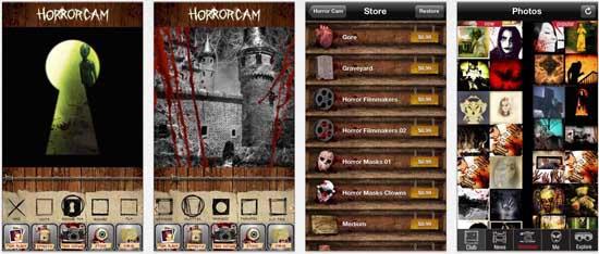 horrorcam 17 apps iPhone para fazer Montagens nas suas Fotografias