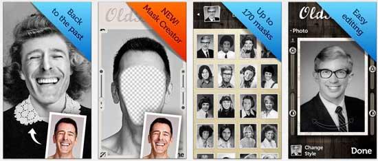 oldbooth 17 apps iPhone para fazer Montagens nas suas Fotografias