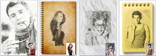pencil sketch 17 apps iPhone para fazer Montagens nas suas Fotografias