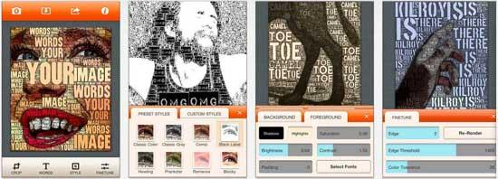 wordfoto 17 apps iPhone para fazer Montagens nas suas Fotografias
