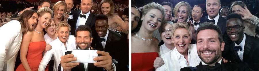 Oscars Twitter Selfie A Fotografia e a Moda das Selfies ou a evolução do Auto Retrato