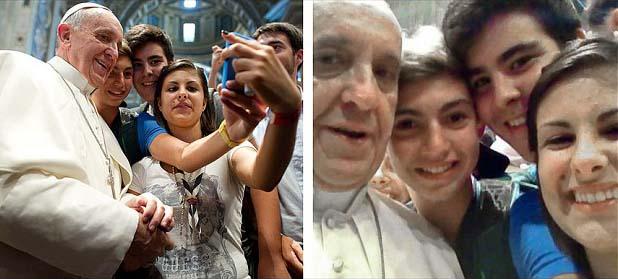 Pope Francis  selfie A Fotografia e a Moda das Selfies ou a evolução do Auto Retrato