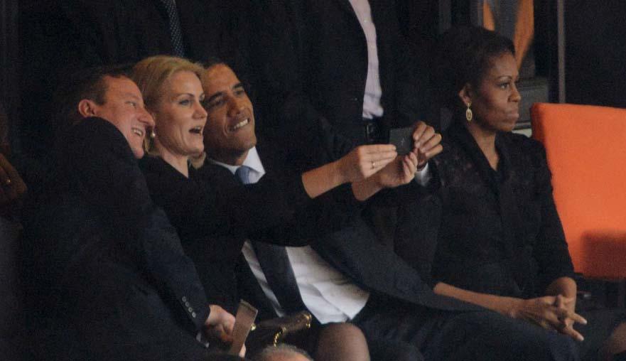 selfie obama A Fotografia e a Moda das Selfies ou a evolução do Auto Retrato