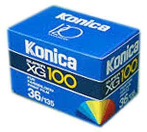 konica xg 100 25 Filmes Fotograficos Usados no Passado